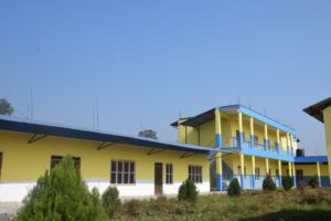 impressie van het schoolgebouw