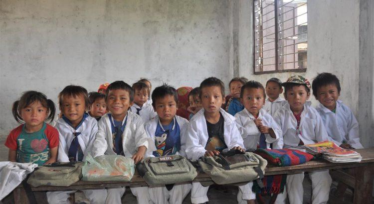 In de klas van hun nieuwe school