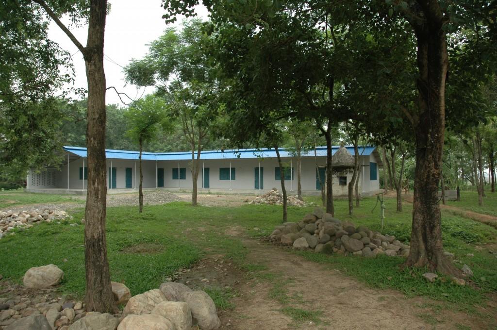De school voor analfabete vrouwen in Danda