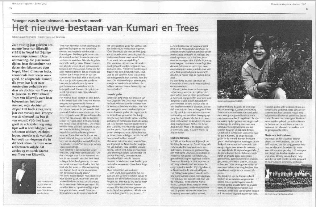 Himalaya Magazine: interview Trees van Rijsewijk