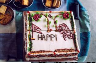 Een taart uit eigen bakkerij!