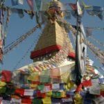 """Bodhnath """"De stoepa van de verlichte', een pelgrimsplaats voor Boeddhisten, is ongeveer 500 jaar oud."""