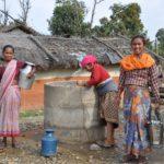 150 families gebruiken deze waterput.